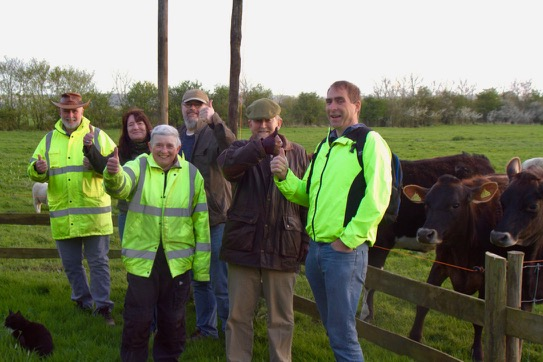 Group from Sustainable Devizes at Caenhill Countryside Centre